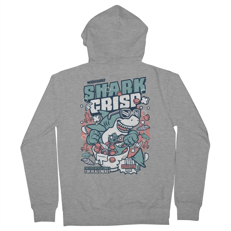 Shark Crisp Cereal Women's French Terry Zip-Up Hoody by WackyToonz