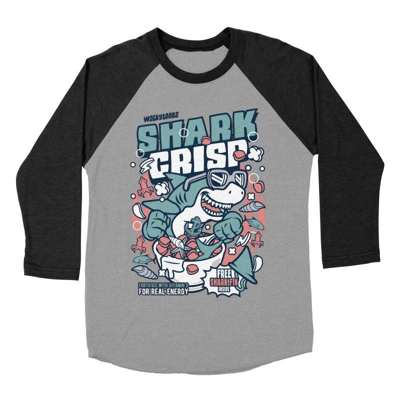 Shark Crisp Cereal Men's Baseball Triblend Longsleeve T-Shirt by WackyToonz
