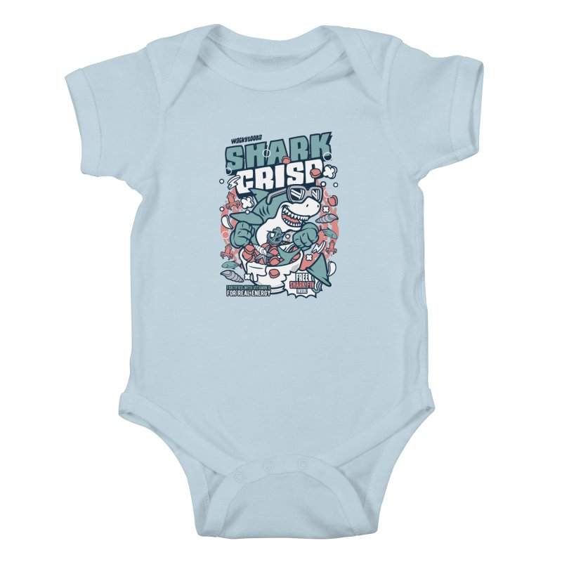 Shark Crisp Cereal Kids Baby Bodysuit by WackyToonz