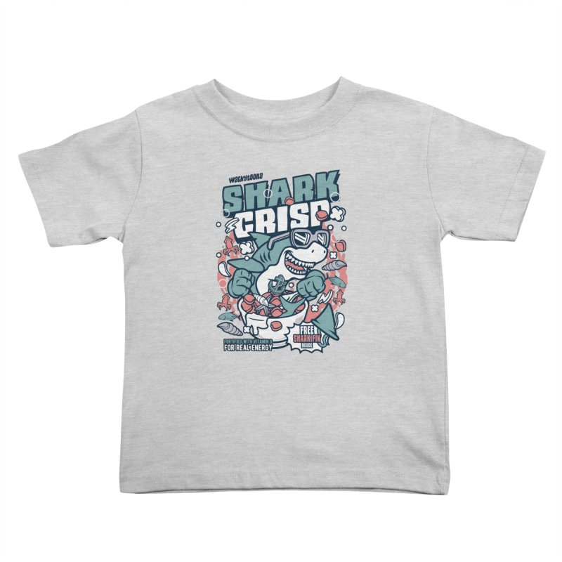 Shark Crisp Cereal Kids Toddler T-Shirt by WackyToonz