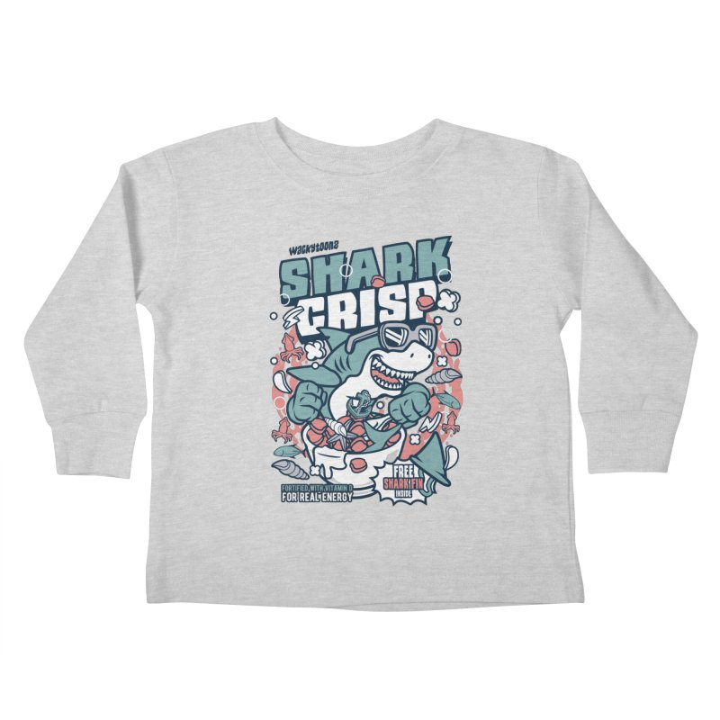 Shark Crisp Cereal Kids Toddler Longsleeve T-Shirt by WackyToonz