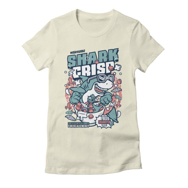 Shark Crisp Cereal Women's Fitted T-Shirt by WackyToonz