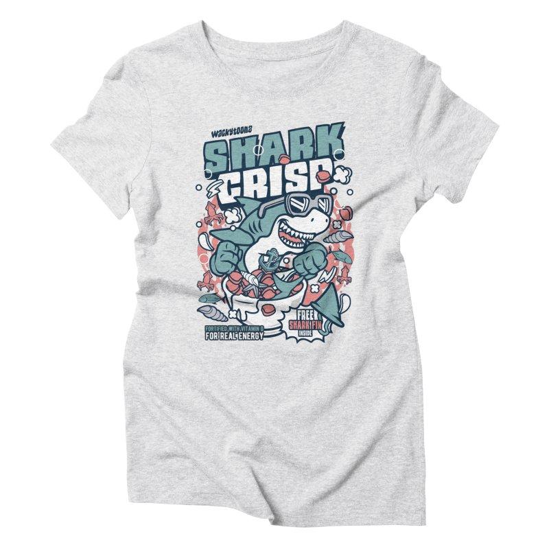 Shark Crisp Cereal Women's T-Shirt by WackyToonz
