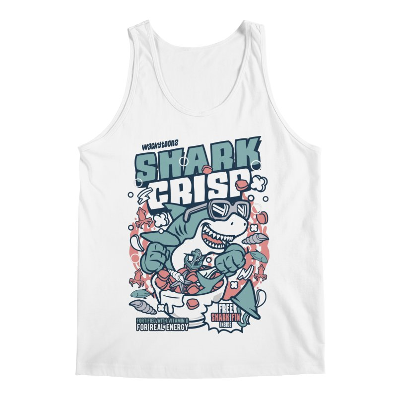 Shark Crisp Cereal Men's Tank by WackyToonz