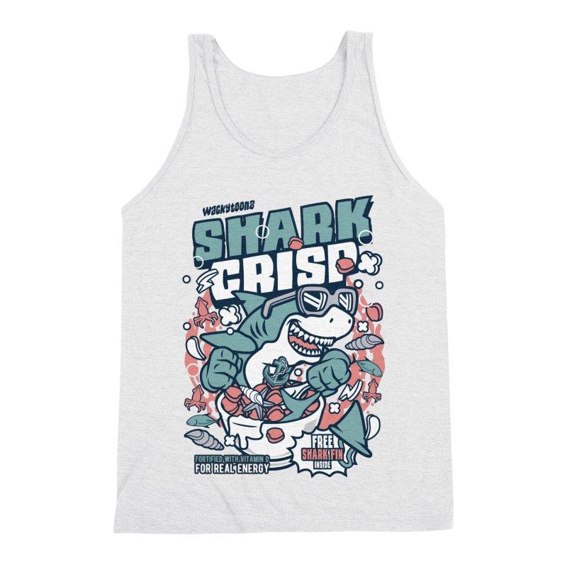 Shark Crisp Cereal Men's Triblend Tank by WackyToonz