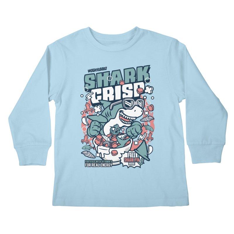 Shark Crisp Cereal Kids Longsleeve T-Shirt by WackyToonz