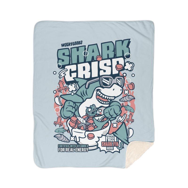 Shark Crisp Cereal Home Blanket by WackyToonz