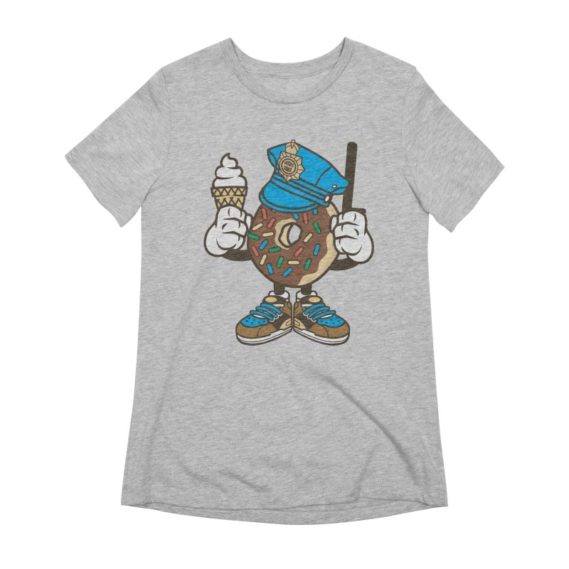 Donut Cop Women's T-Shirt by WackyToonz