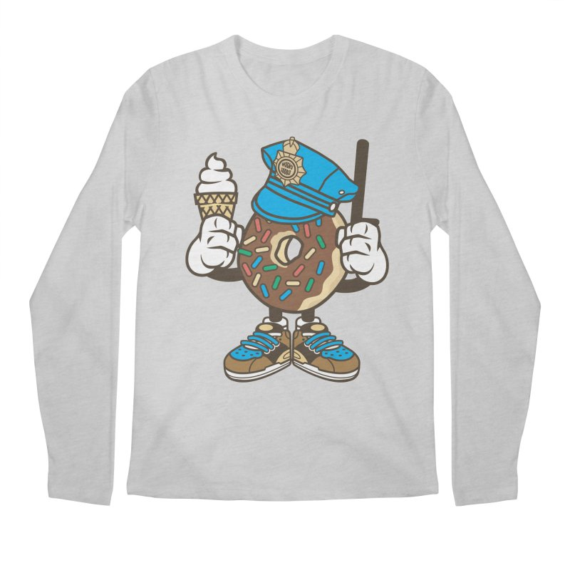Donut Cop Men's Regular Longsleeve T-Shirt by WackyToonz
