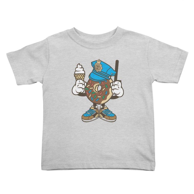 Donut Cop Kids Toddler T-Shirt by WackyToonz
