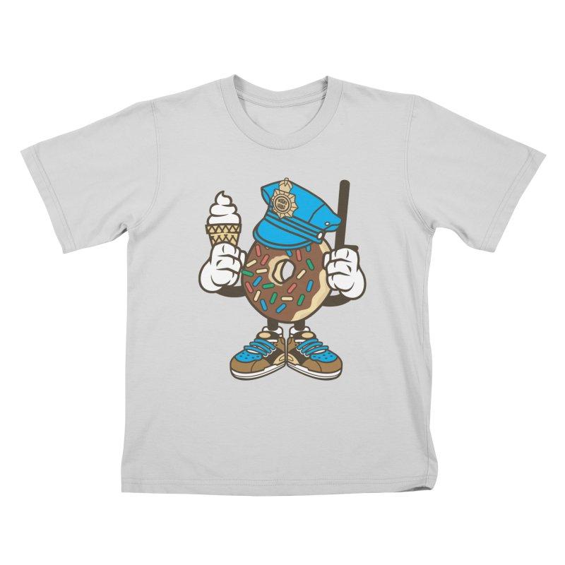 Donut Cop Kids T-Shirt by WackyToonz