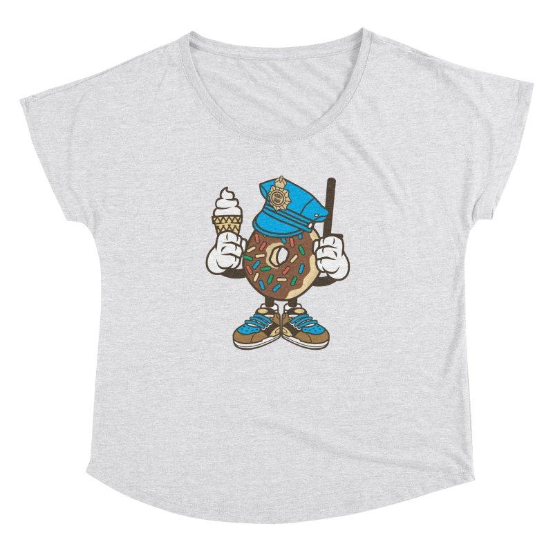 Donut Cop Women's Scoop Neck by WackyToonz
