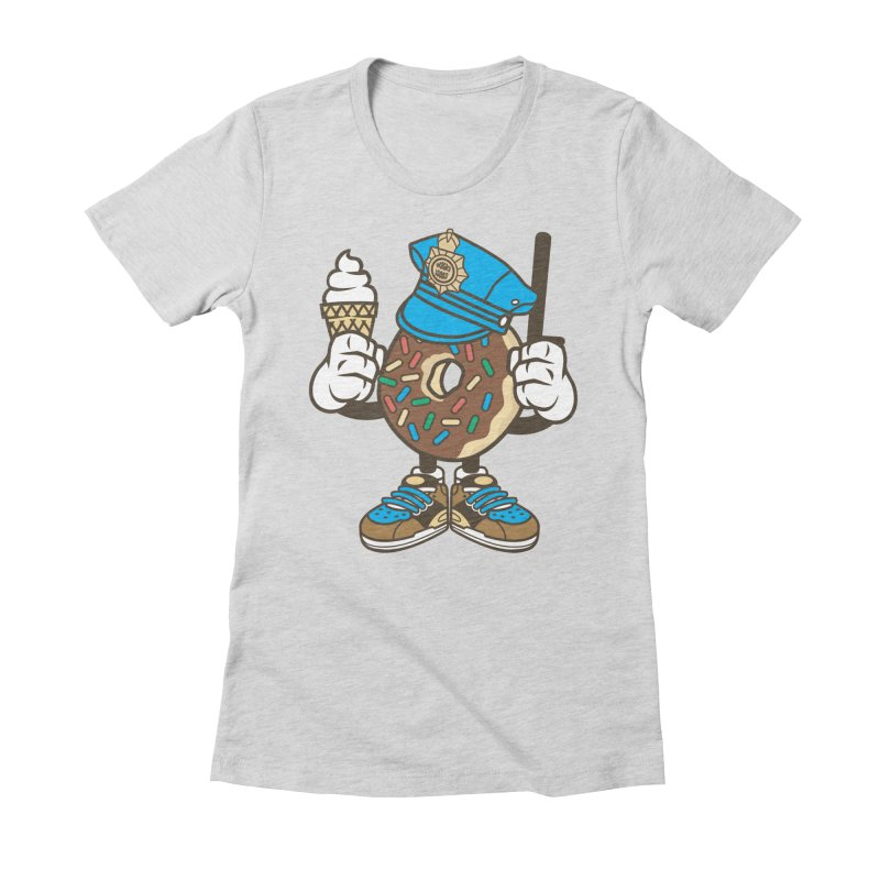 Donut Cop Women's Fitted T-Shirt by WackyToonz