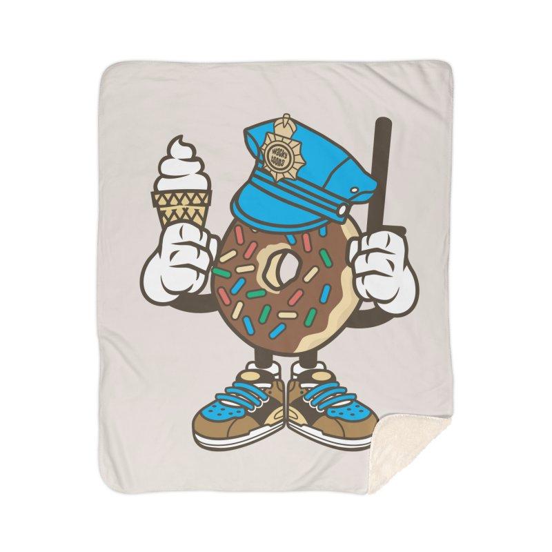 Donut Cop Home Blanket by WackyToonz