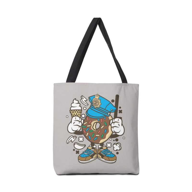 Donut Cop Accessories Tote Bag Bag by WackyToonz