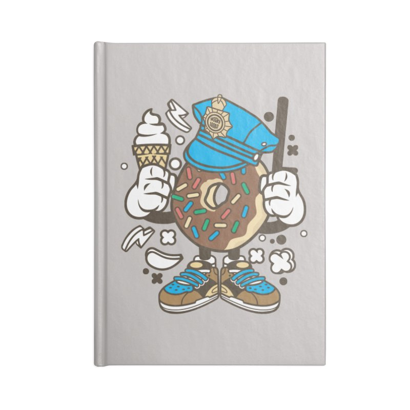 Donut Cop Accessories Lined Journal Notebook by WackyToonz