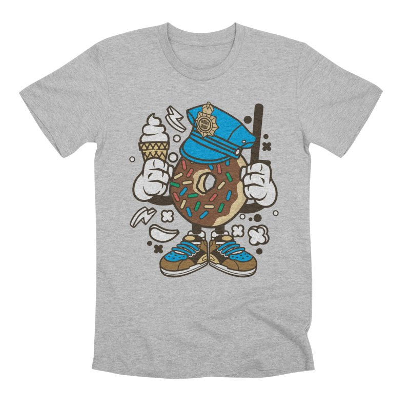 Donut Cop Men's T-Shirt by WackyToonz