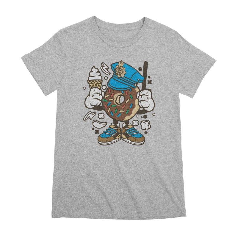 Donut Cop Women's Premium T-Shirt by WackyToonz