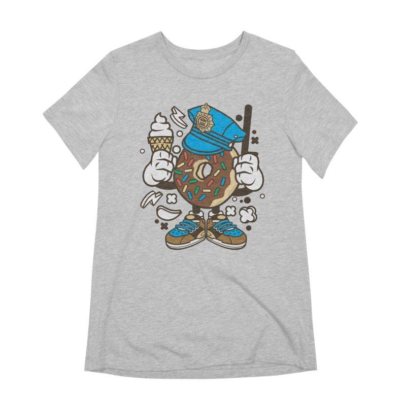 Donut Cop Women's Extra Soft T-Shirt by WackyToonz