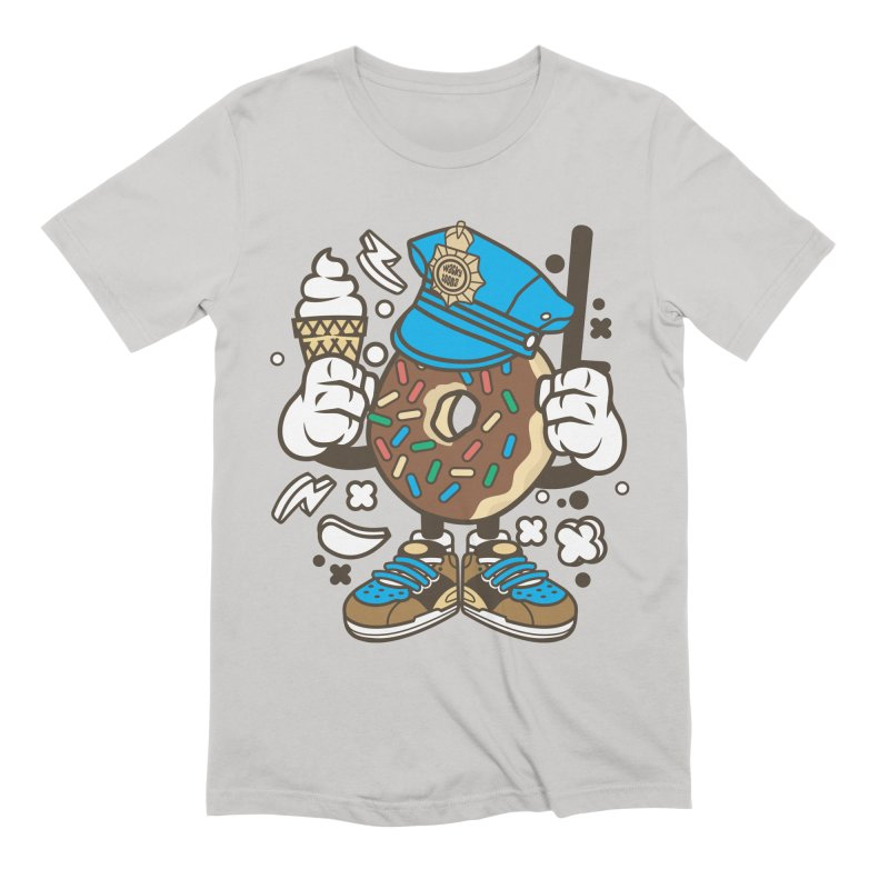 Donut Cop Men's Extra Soft T-Shirt by WackyToonz