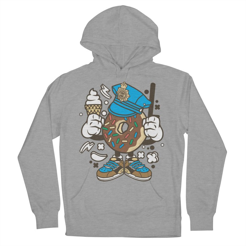 Donut Cop Women's French Terry Pullover Hoody by WackyToonz