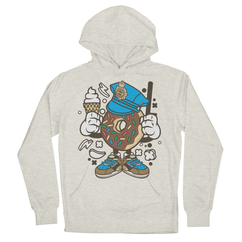 Donut Cop Men's French Terry Pullover Hoody by WackyToonz