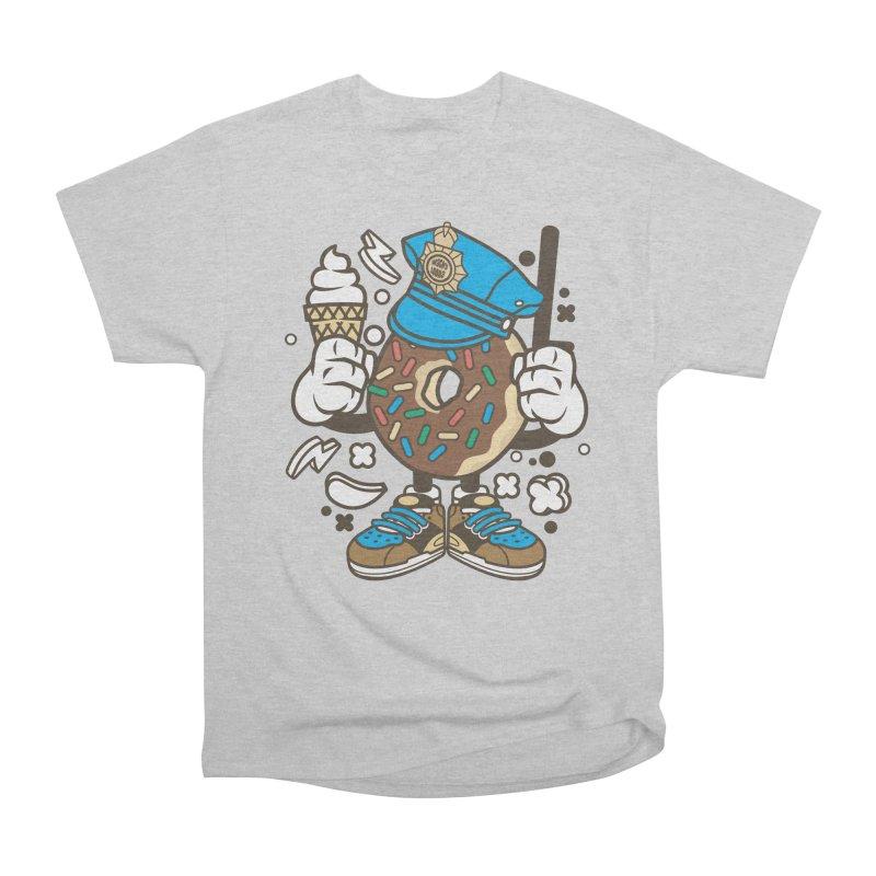 Donut Cop Women's Heavyweight Unisex T-Shirt by WackyToonz