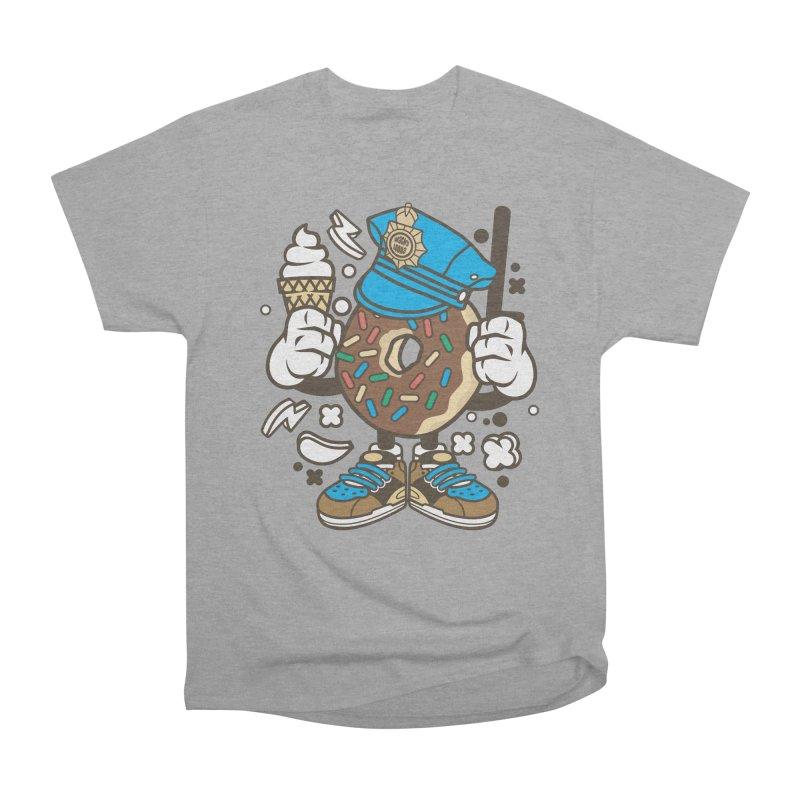 Donut Cop Men's Heavyweight T-Shirt by WackyToonz