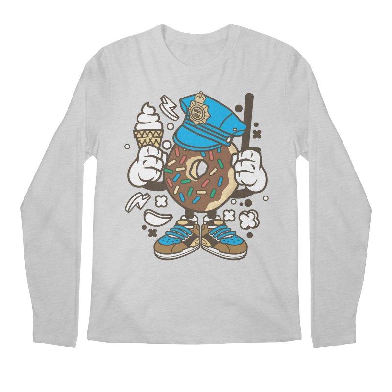 Donut Cop Men's Regular Longsleeve T-Shirt by WackyToonz