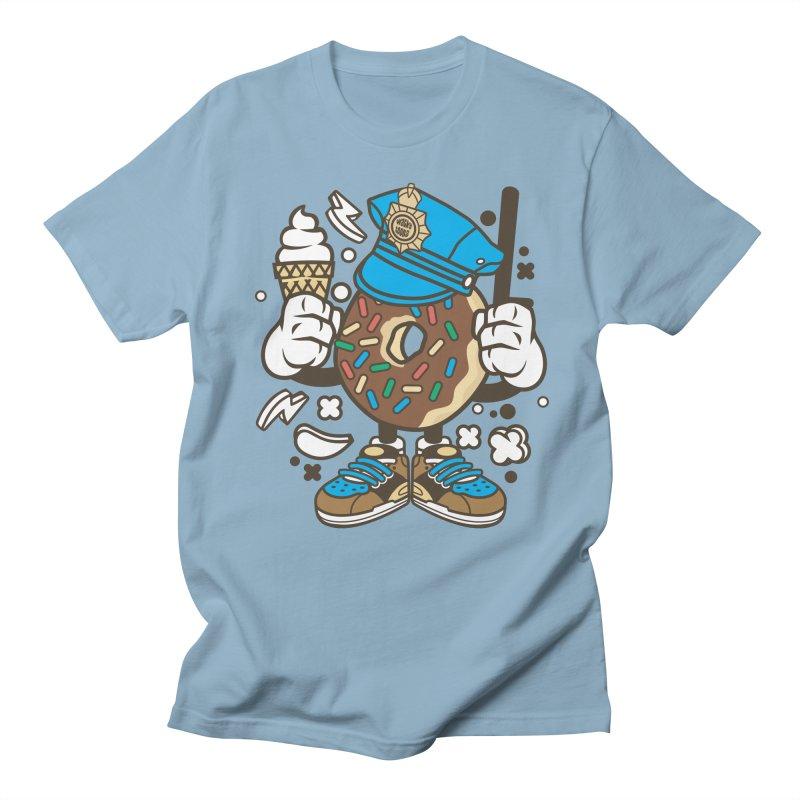 Donut Cop Women's Regular Unisex T-Shirt by WackyToonz