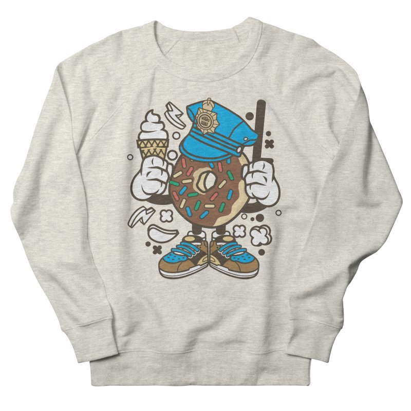 Donut Cop Men's French Terry Sweatshirt by WackyToonz