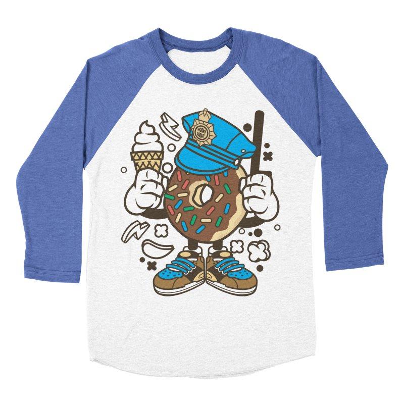 Donut Cop Women's Baseball Triblend Longsleeve T-Shirt by WackyToonz