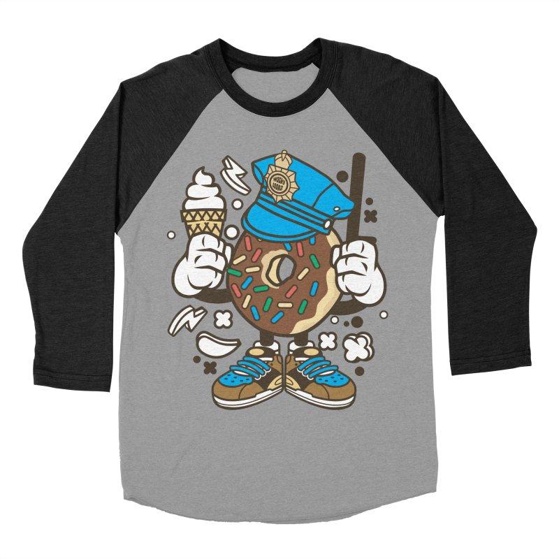Donut Cop Men's Baseball Triblend Longsleeve T-Shirt by WackyToonz
