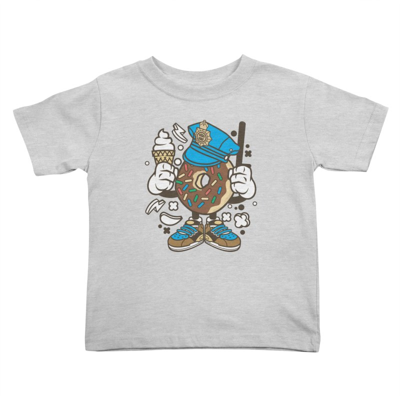 Donut Cop Kids Toddler T-Shirt by WackyToonz
