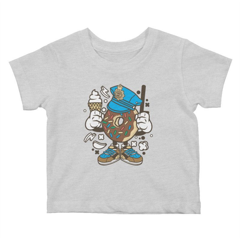Donut Cop Kids Baby T-Shirt by WackyToonz