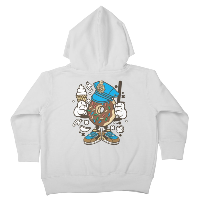 Donut Cop Kids Toddler Zip-Up Hoody by WackyToonz