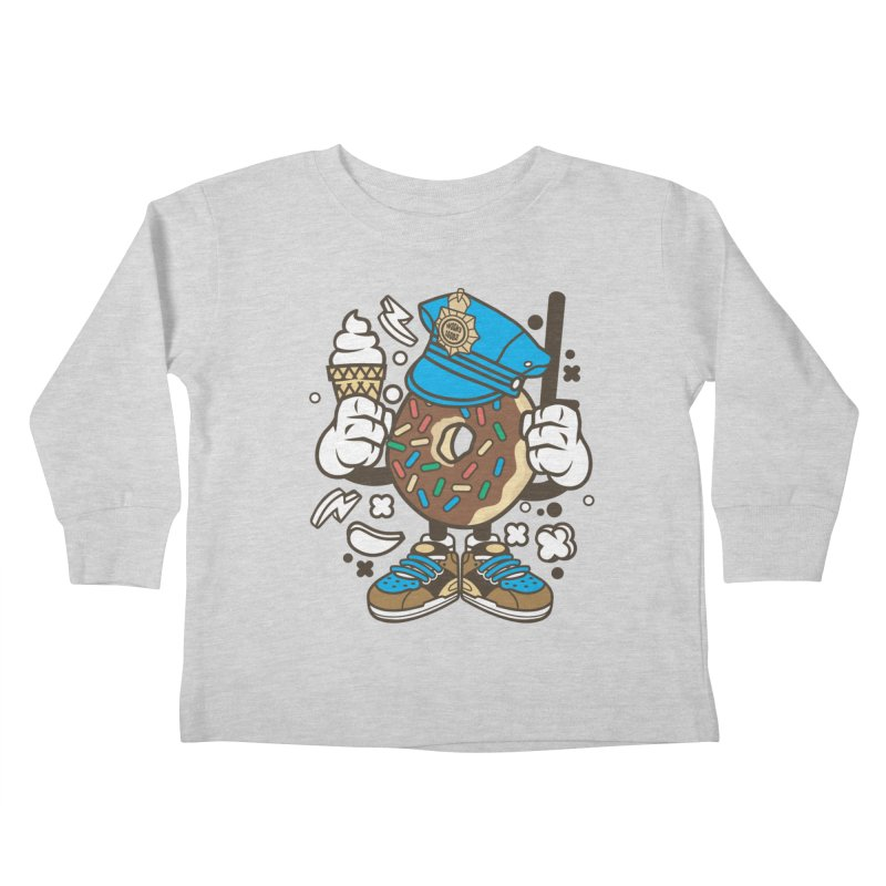 Donut Cop Kids Toddler Longsleeve T-Shirt by WackyToonz