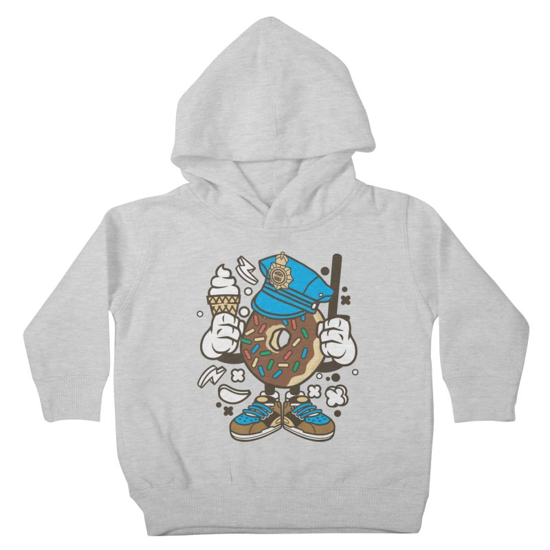 Donut Cop Kids Toddler Pullover Hoody by WackyToonz