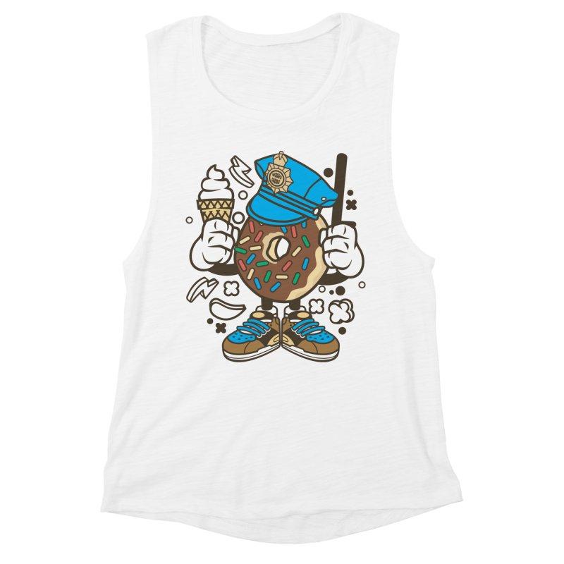 Donut Cop Women's Muscle Tank by WackyToonz