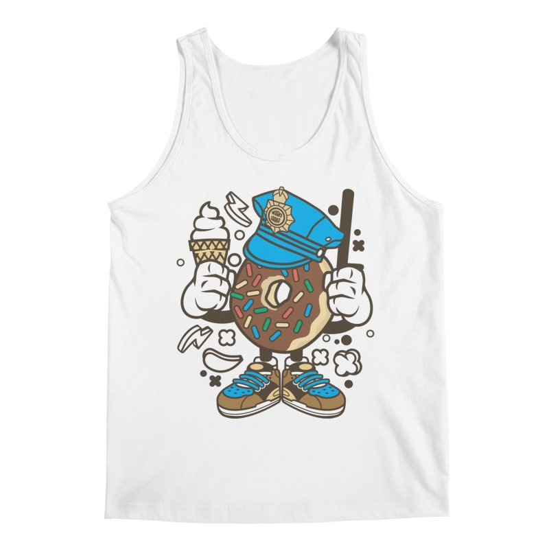 Donut Cop Men's Regular Tank by WackyToonz