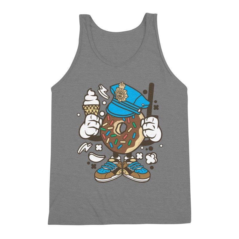 Donut Cop Men's Triblend Tank by WackyToonz
