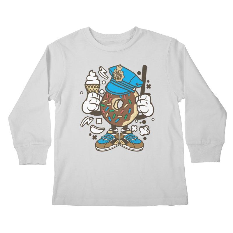 Donut Cop Kids Longsleeve T-Shirt by WackyToonz