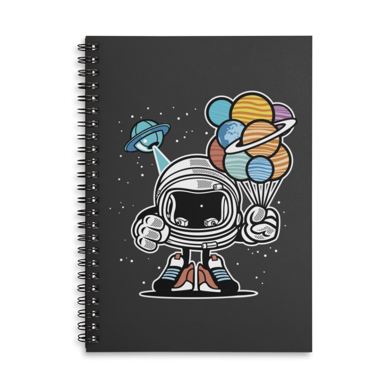 Out Of This World Gift Accessories Lined Spiral Notebook by WackyToonz
