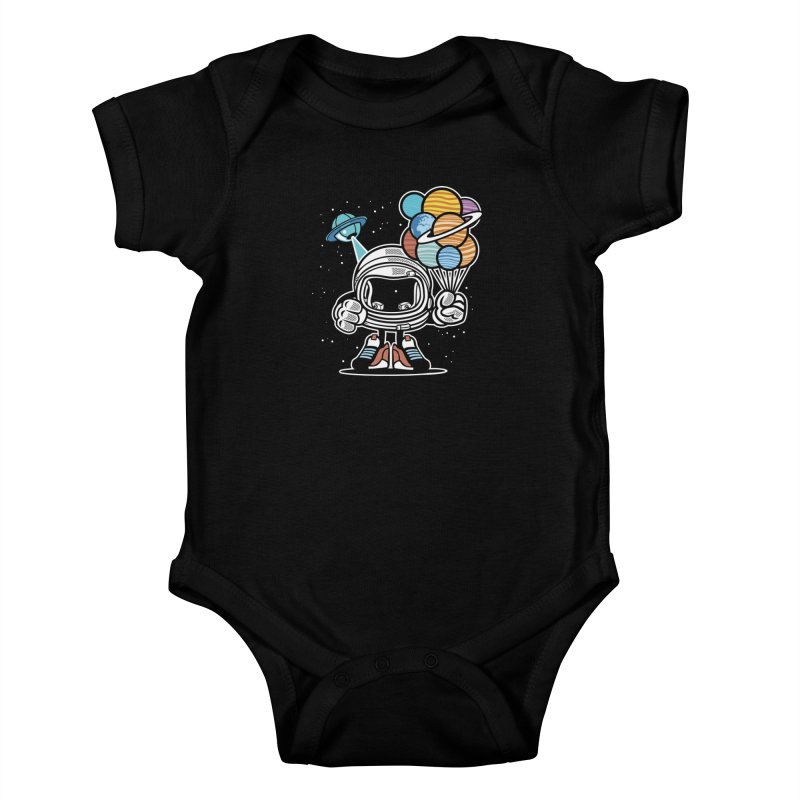 Out Of This World Gift Kids Baby Bodysuit by WackyToonz