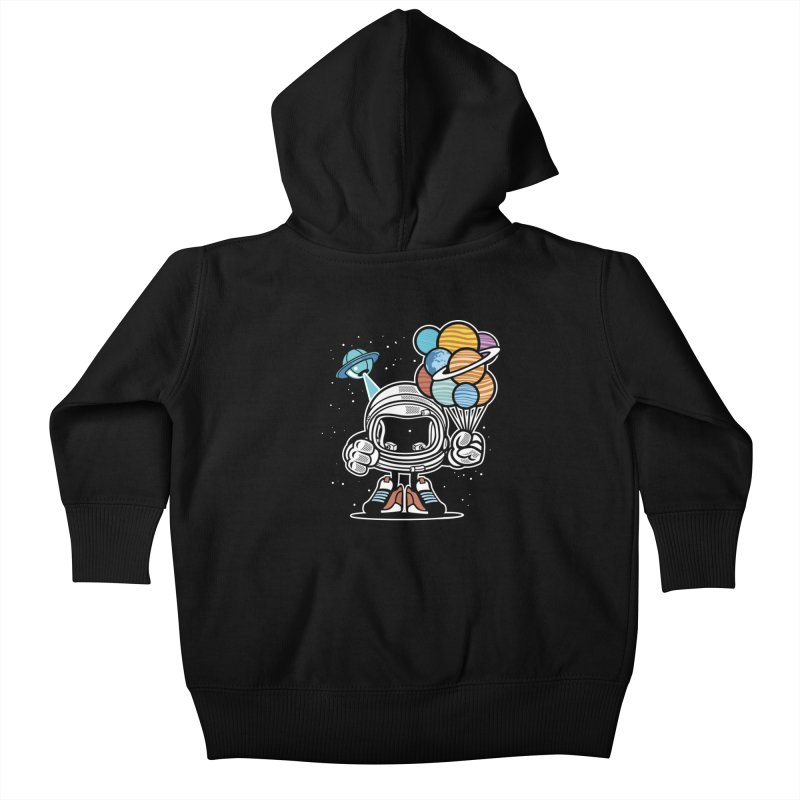 Out Of This World Gift Kids Baby Zip-Up Hoody by WackyToonz