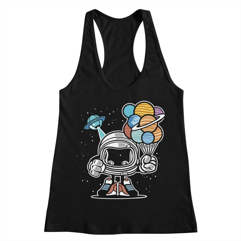 Out Of This World Gift Women's Racerback Tank by WackyToonz