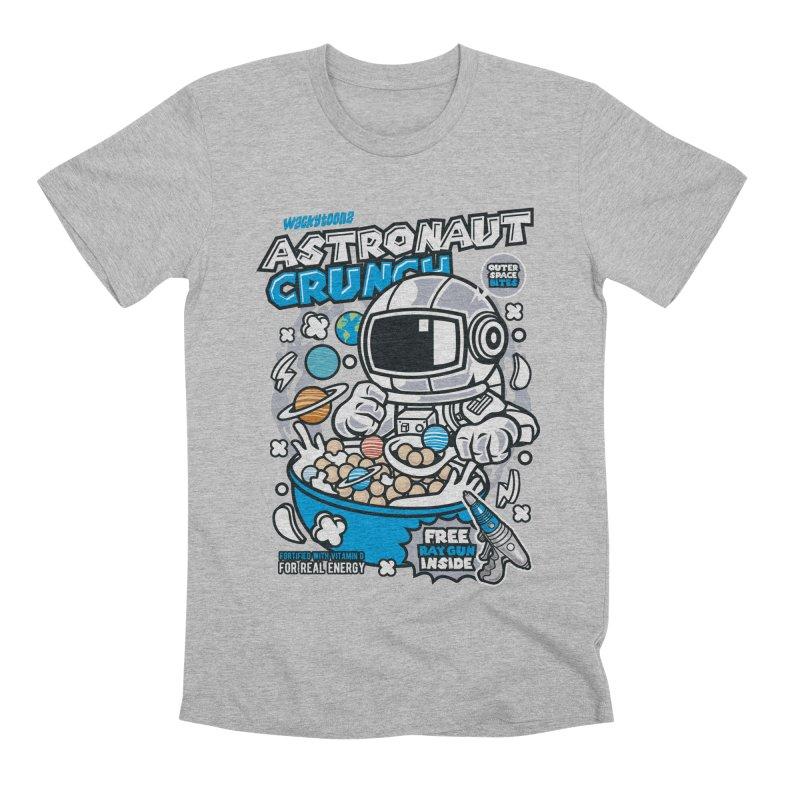 Astronaut Crunch Cereal Men's T-Shirt by WackyToonz