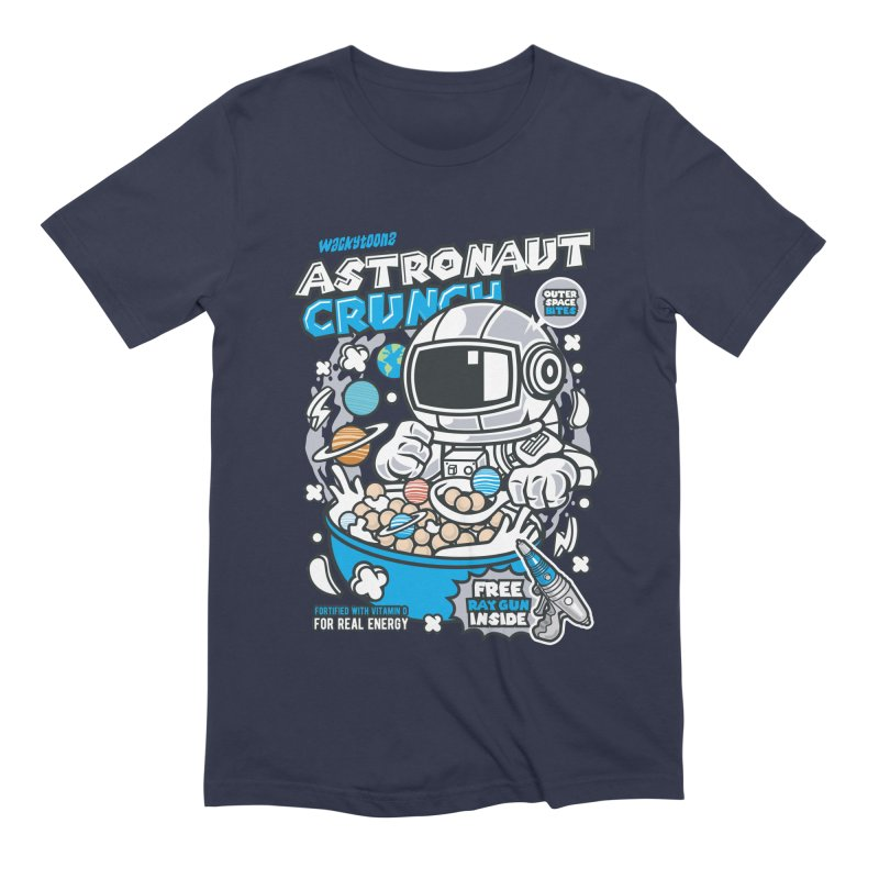Astronaut Crunch Cereal Men's T-Shirt by WackyToonz