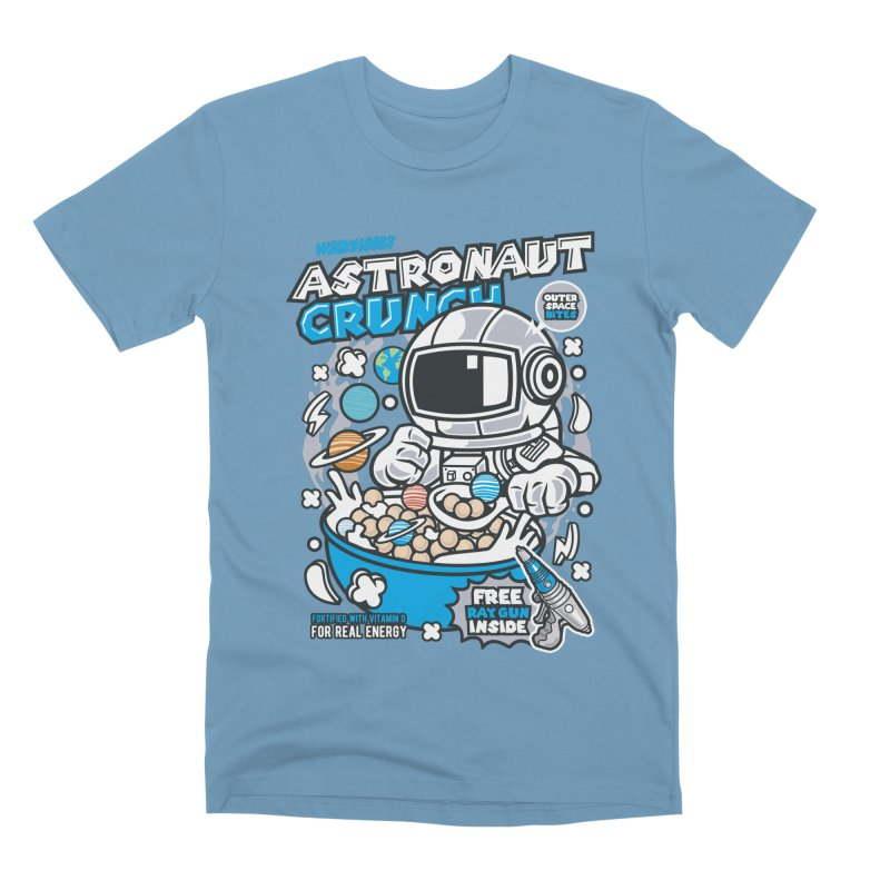 Astronaut Crunch Cereal Men's Premium T-Shirt by WackyToonz