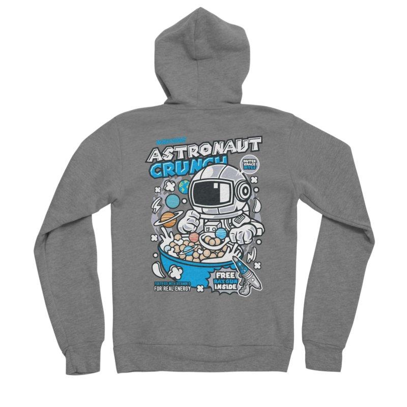Astronaut Crunch Cereal Men's Zip-Up Hoody by WackyToonz